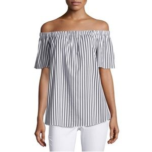 Vince Camuto Off The Shoulder Striped Top